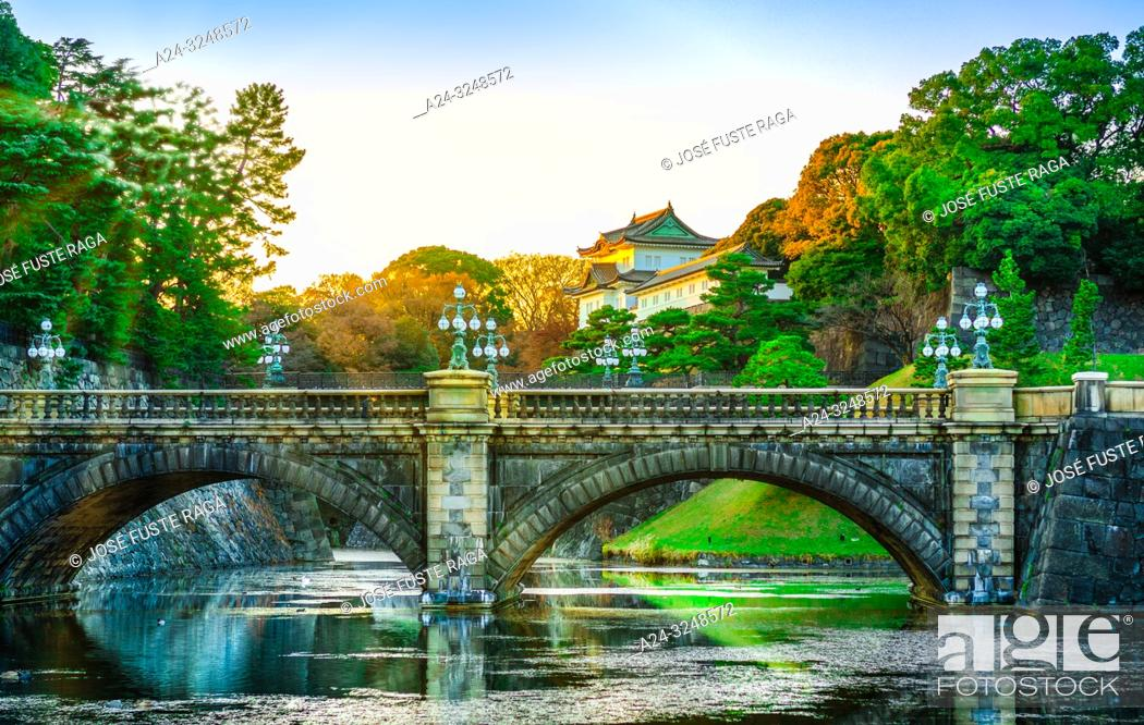 Imagen: Japan, Tokyo City, The Imperial Palace, Nijubashi.