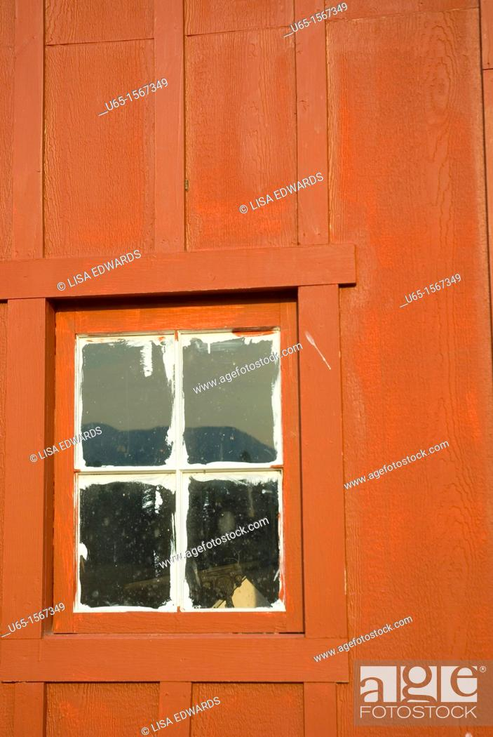 Stock Photo: Old building at Fort Missoula, Montana, USA.