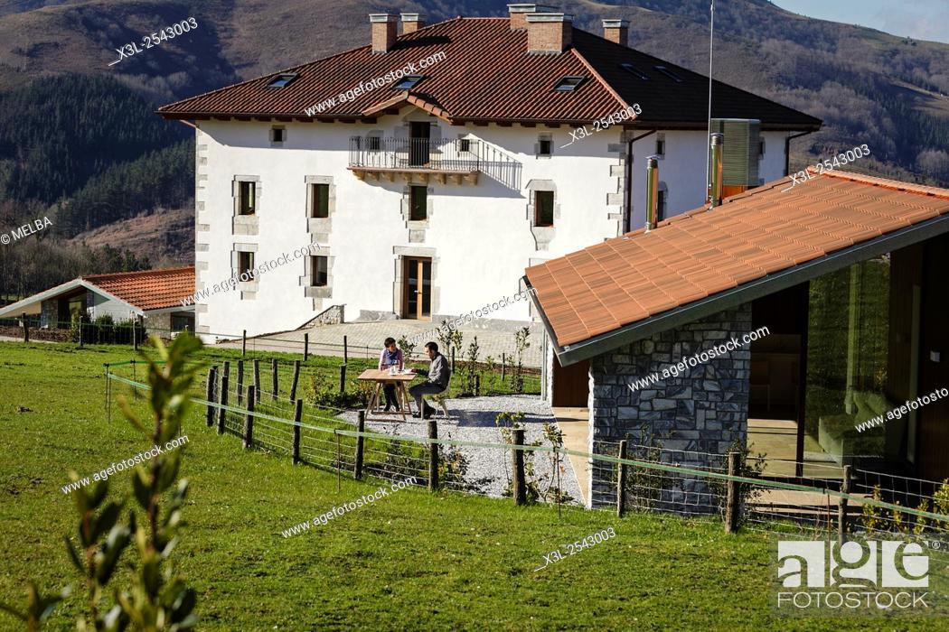 Stock Photo: Hotel. Irrisarri Land, recreational center. Igantzi. Navarre. Spain.