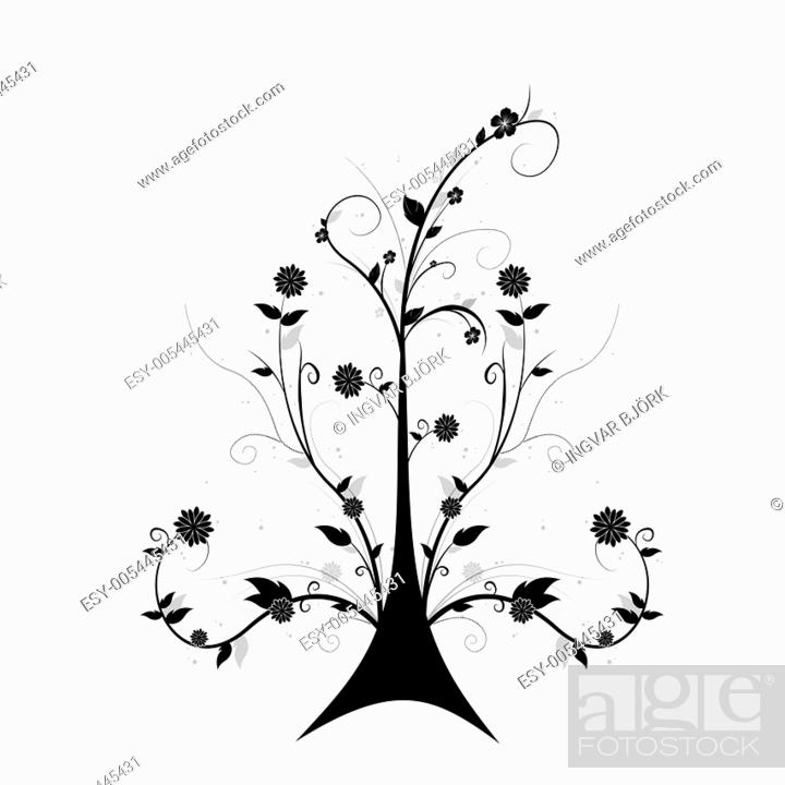 Stock Photo: Art floral tree.