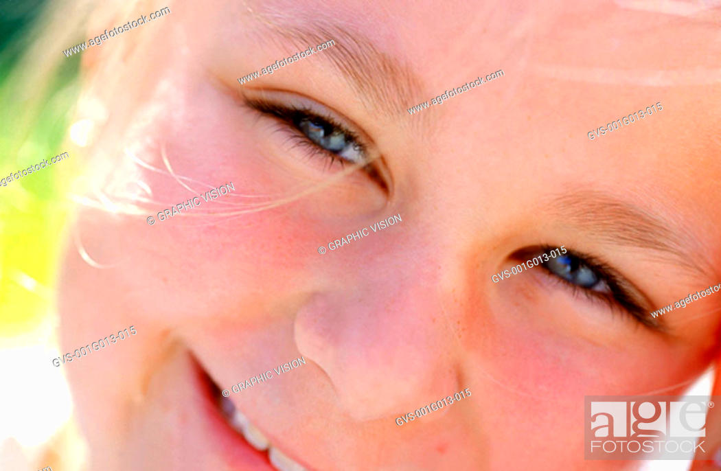 Stock Photo: Close-up of a girl's face.