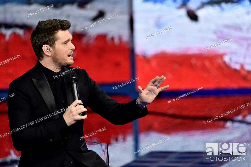 Imagen: Michael Buble' The singer Michael Buble' during the tv show Che tempo che fa, Milan, ITALY-04-11-2018.