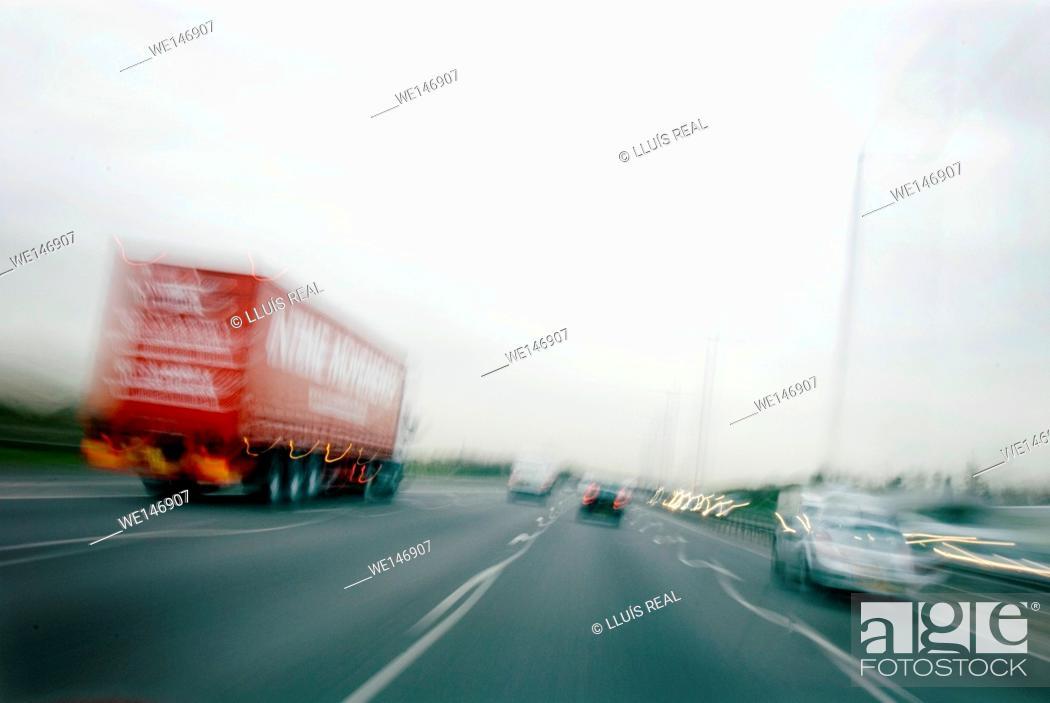 Stock Photo: Highway Traffic. UK.