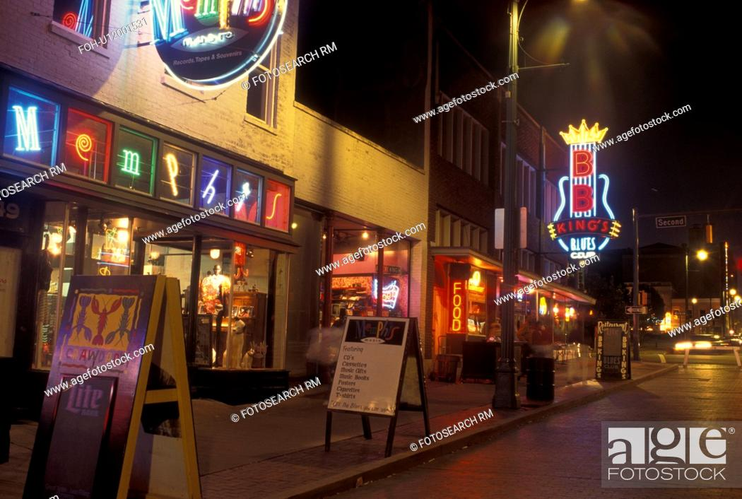 Memphis Tn Tennessee Blues Clubs Along Beale Street