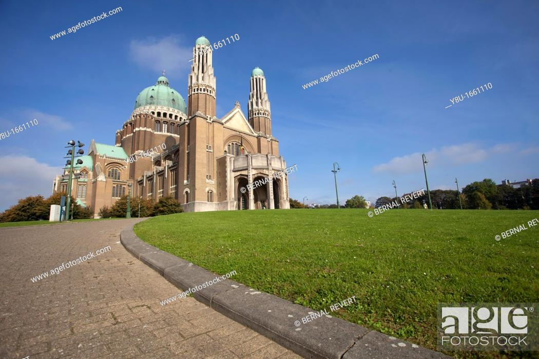 Stock Photo: National Basilica of the Sacred Heart in Brussels, Belgium.