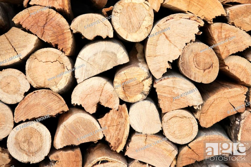 Stock Photo: Close-up of a stack of firewood.