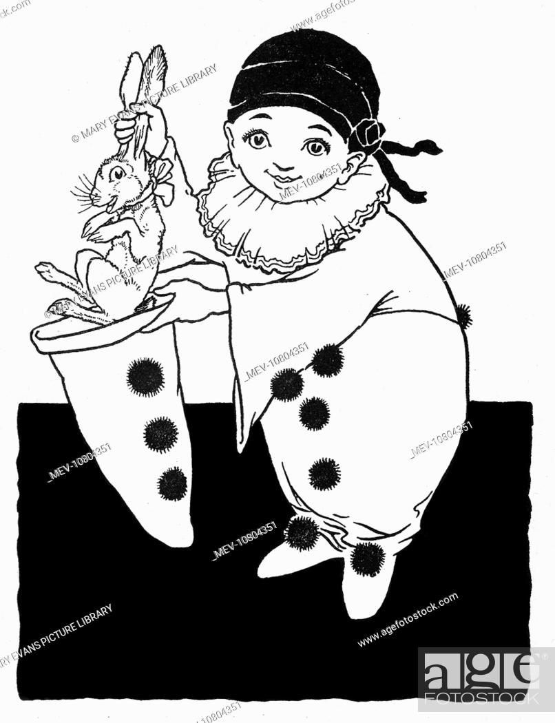 Pulling A Rabbit From A Hat Pierrot Pulling A Rabbit From A Hat