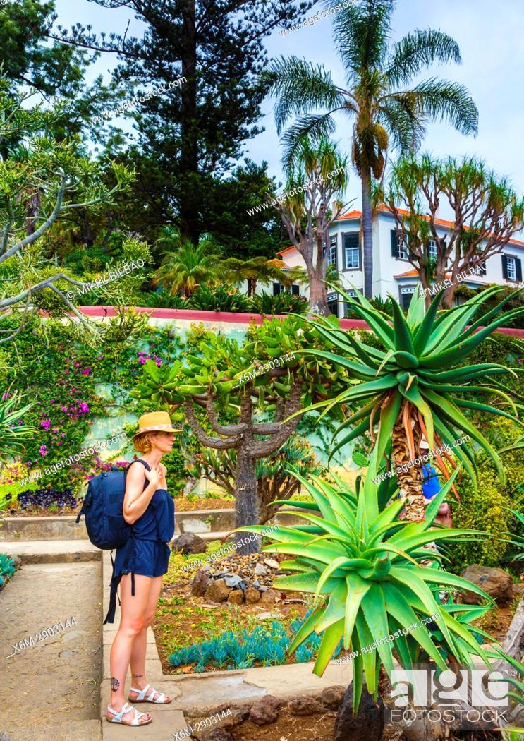 Stock Photo: Madeira Botanical Gardens. Funchal. Madeira, Portugal, Europe.