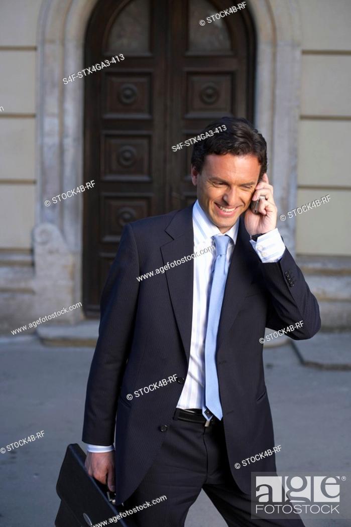 Stock Photo: Phoning businessman.