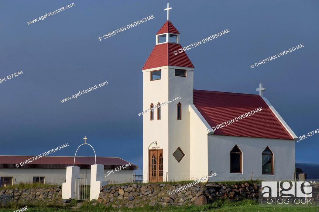 Stock Photo: Farmer Jón's Church, Möðrudalur, between Myvatn and Egilsstadir, Eastern Region, Iceland.