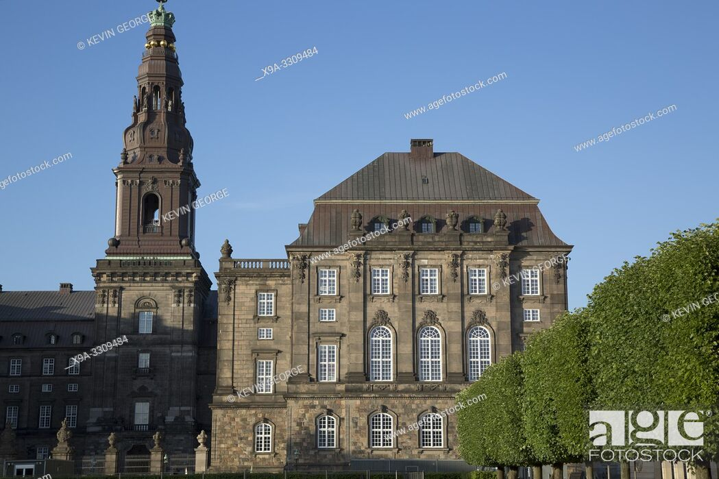 Stock Photo: Christiansborg Royal Palace; Danish Parliament; Copenhagen; Denmark.