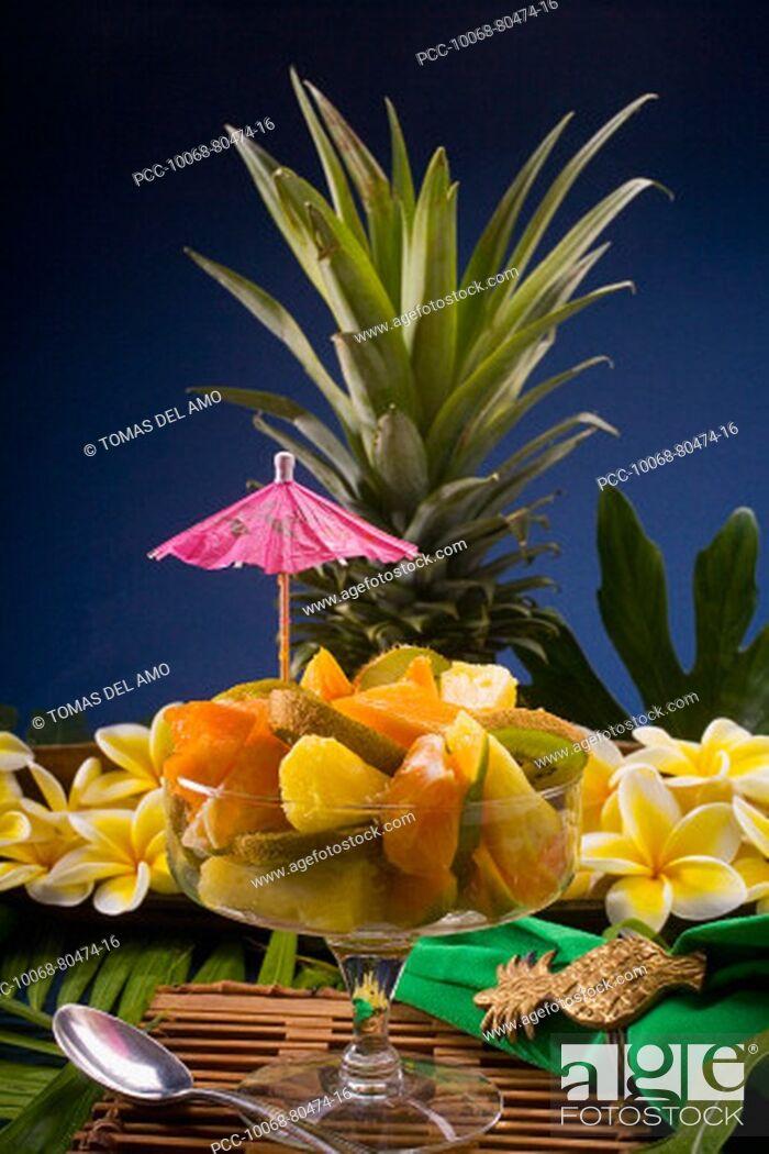 Stock Photo: Studio shot of a tropical fruit salad.