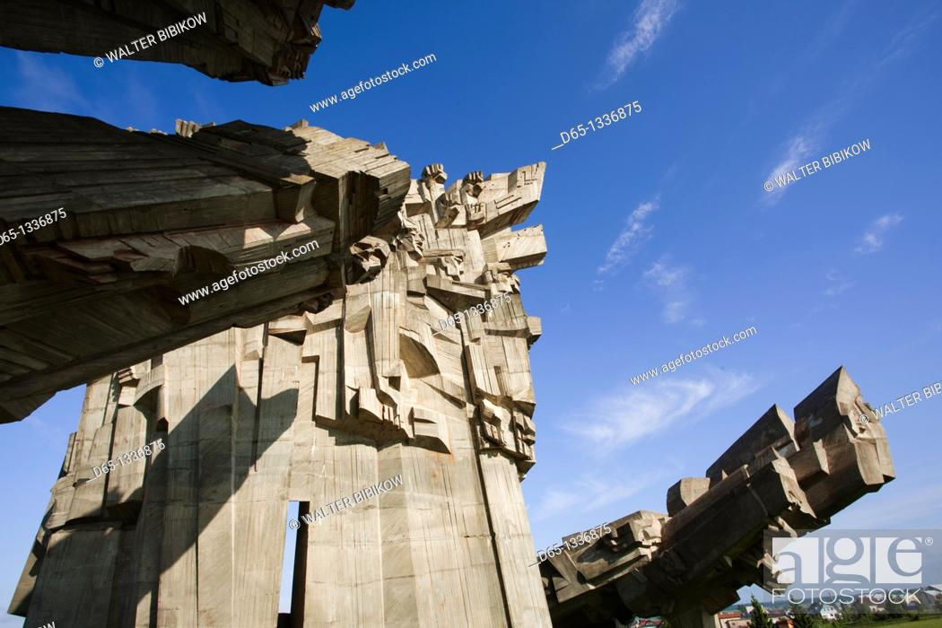 Stock Photo: Lithuania, Central Lithuania, Kaunas, Ninth Fort Monument, memorial to Nazi concentration camp in World War Two.