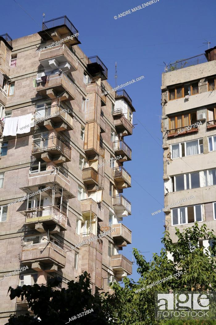 Stock Photo: Apartment houses in Yerevan. Armenia. Photo: André Maslennikov.