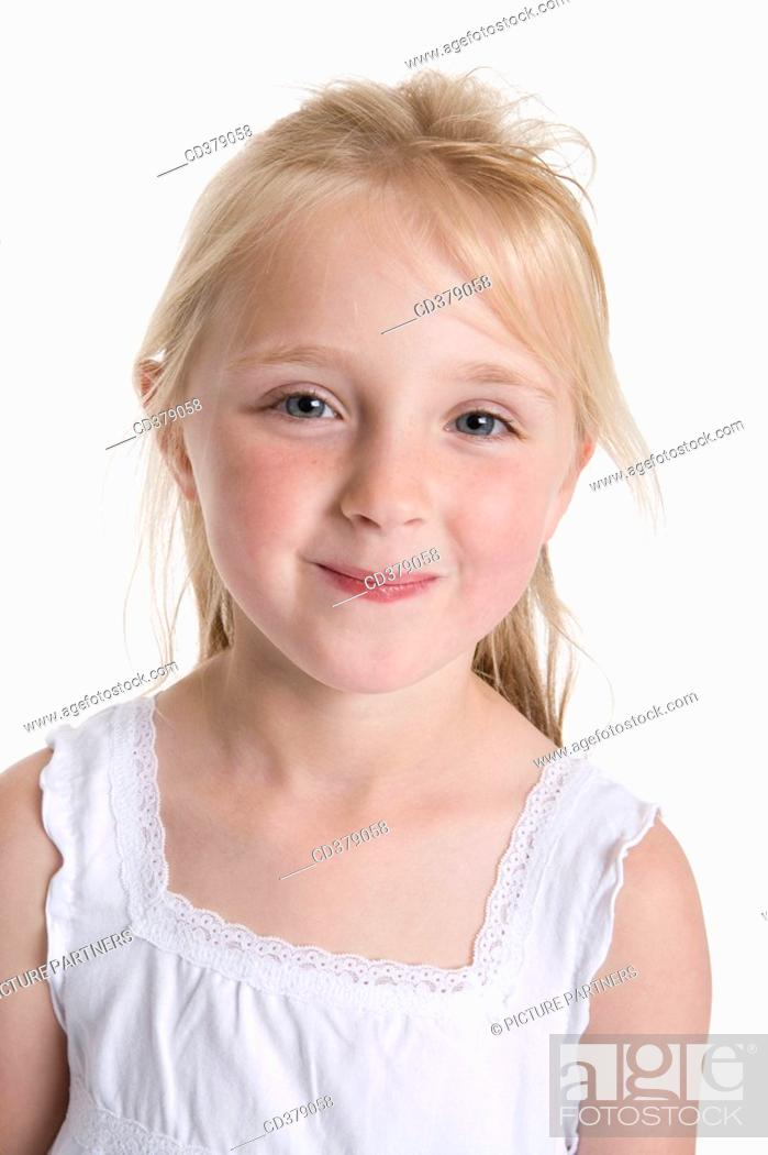 Stock Photo: Portrait of a blond girl.