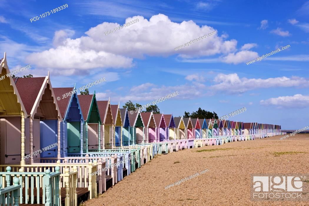 Stock Photo: Row of Colorful Beach Homes.
