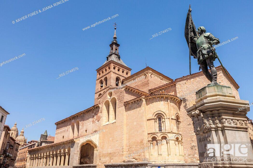 Stock Photo: Church of San Martin in Segovia, Spain.