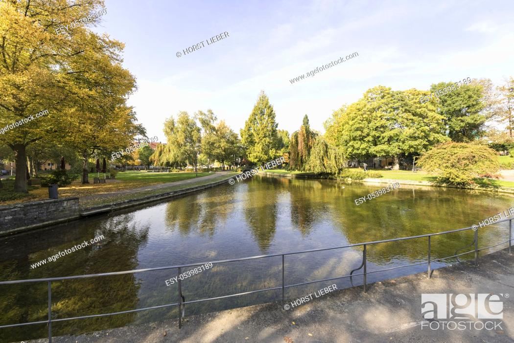 Stock Photo: Headwaters of the Pader river in the city of Paderborn, Ostwestfalen-Lippe region, North Rhine-Westphalia, Germany, Europe.