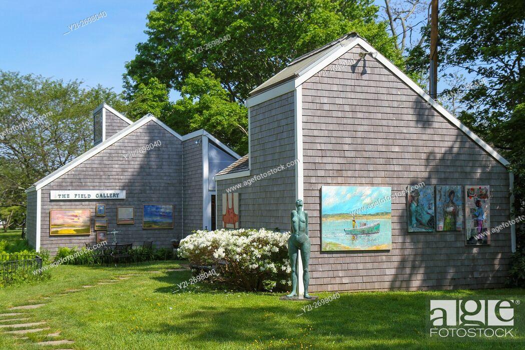 Stock Photo: The Field Gallery, West Tisbury, Martha's Vineyard, Massachusetts, United States, North America.