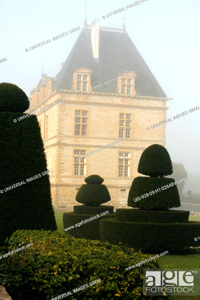 Stock Photo: France, Southern Burgundy Region, Cormatin Castle From 17Th Century.