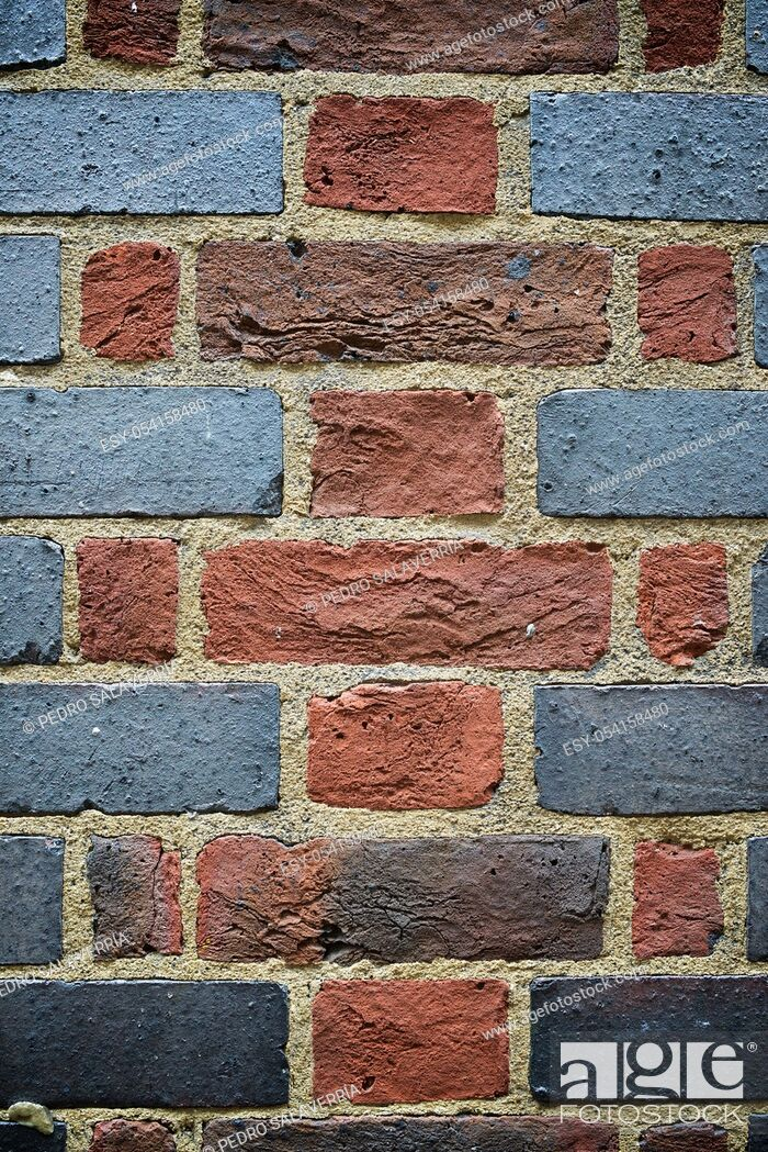 Stock Photo: Brick wall detail in London.