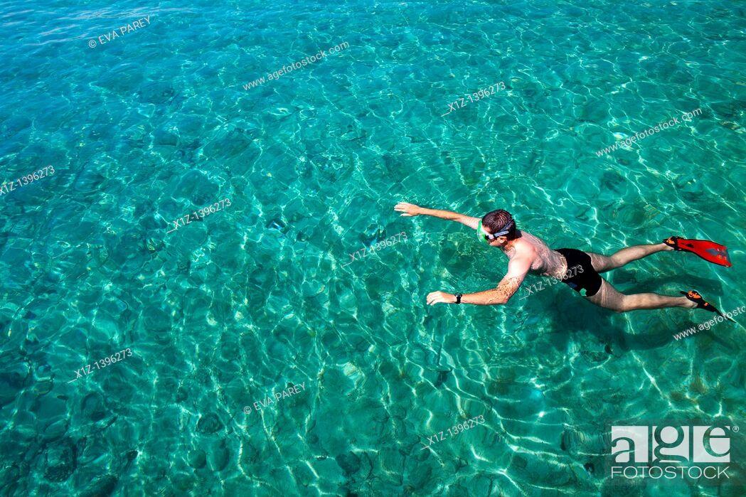 Stock Photo: The island of Badija in Korkula Croatia.