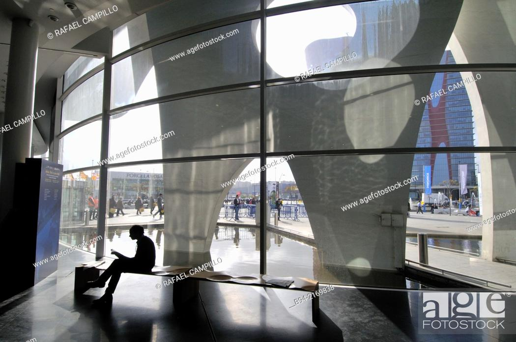 Stock Photo: Fira Barcelona Gran Via. Trade fairs. Architect Toyo Ito. Hospitalet de Llobregat. Barcelona. Catalonia. Spain.