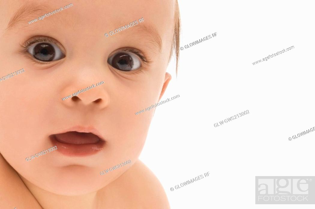 Stock Photo: Portrait of a baby boy.