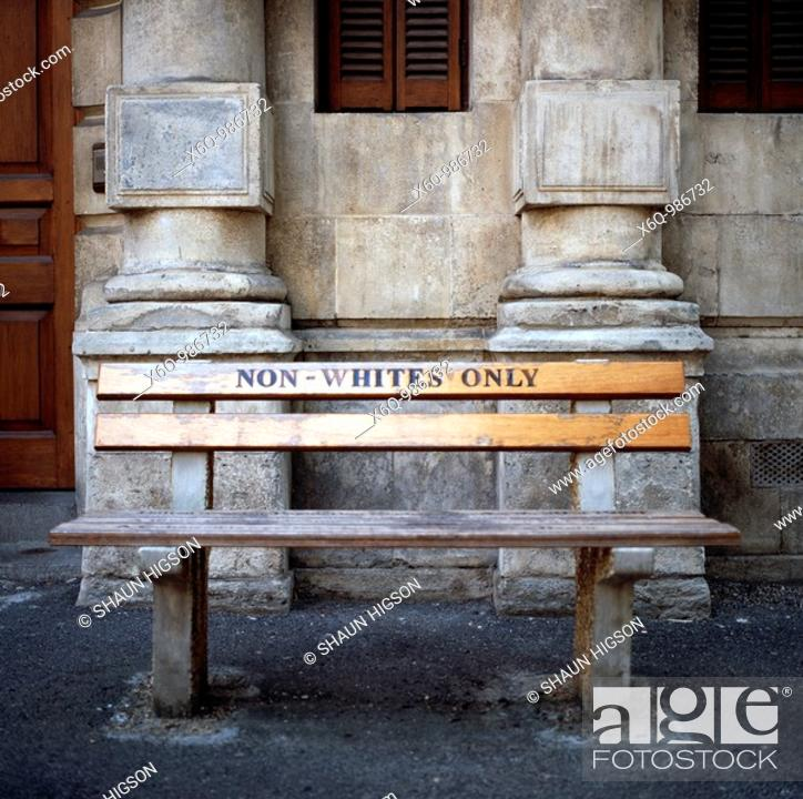 Imagen: Apartheid history in Cape Town in South Africa.