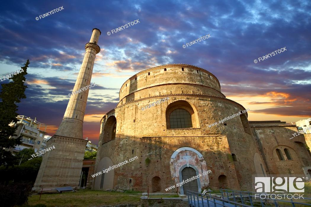Imagen: 4th century Roman rotunda Church of Agios Georgios or the Rotunda of St. George built in 311 as the mauselum of Galerius but never used.