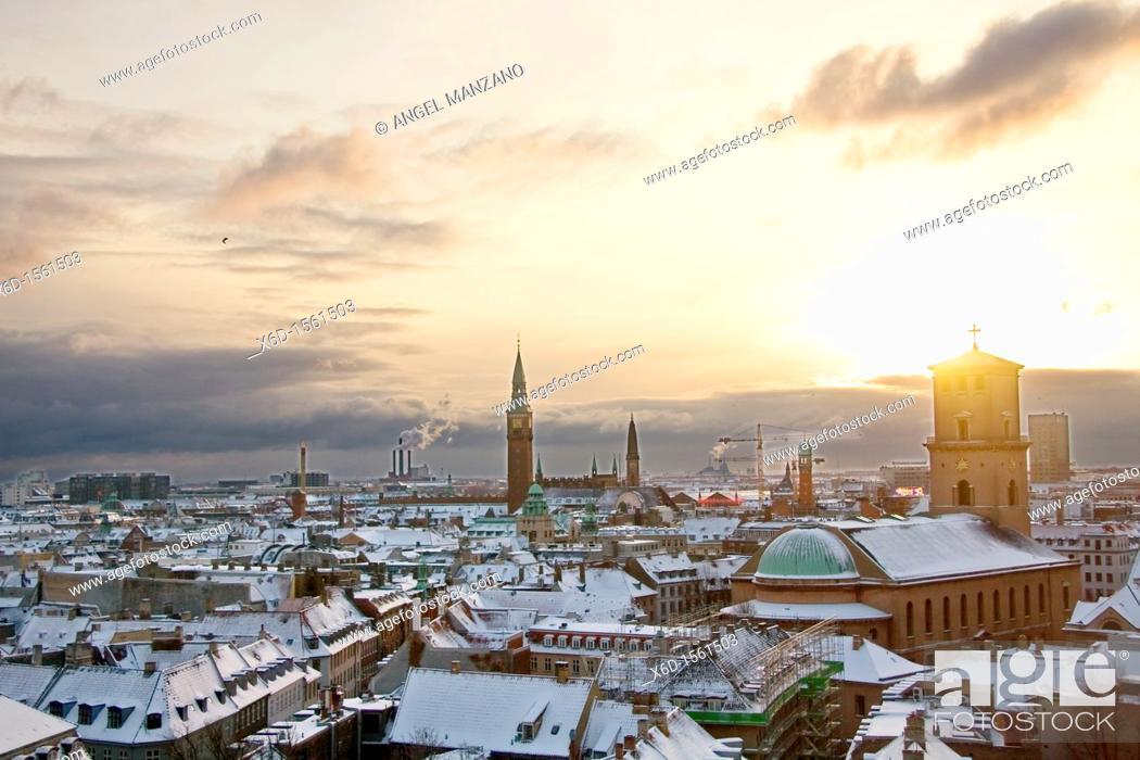 Stock Photo: General view of Copenhague.
