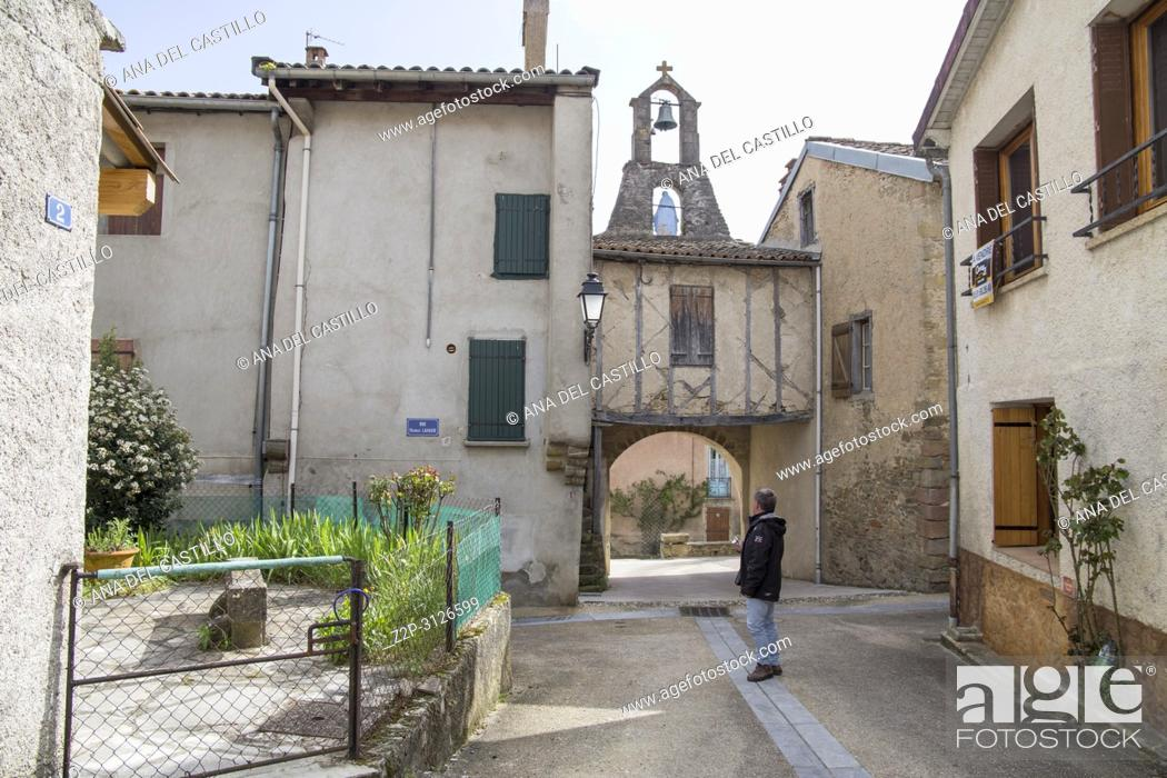 Stock Photo: Medieval bastide of Camon South of France.