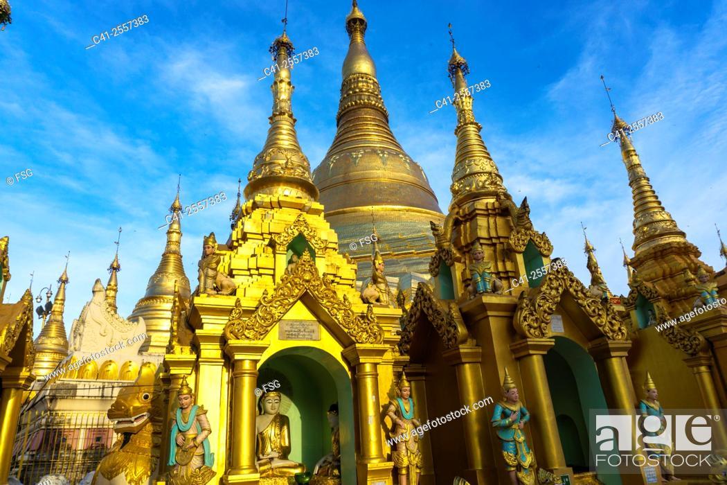Stock Photo: Shwedagon Pagoda. Yangon. Myanmar.