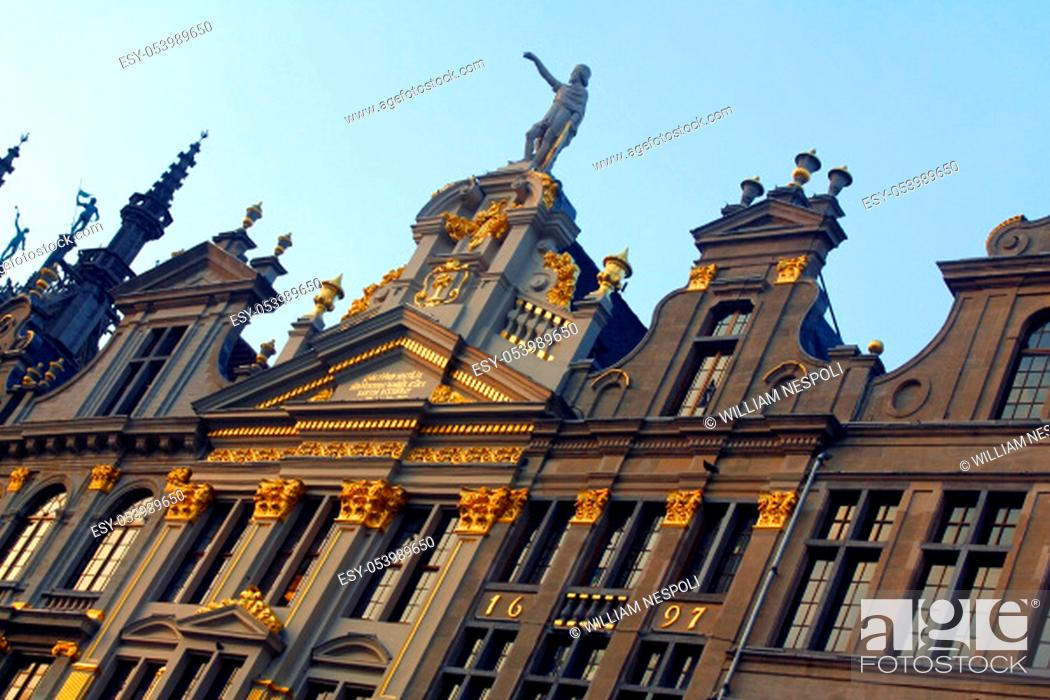 Stock Photo: Grand place of Buxelles.