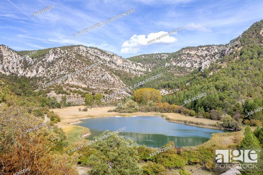 Stock Photo: Laguna de Taravilla, Natural Park of Alto Tajo, Guadalajara, Spain.
