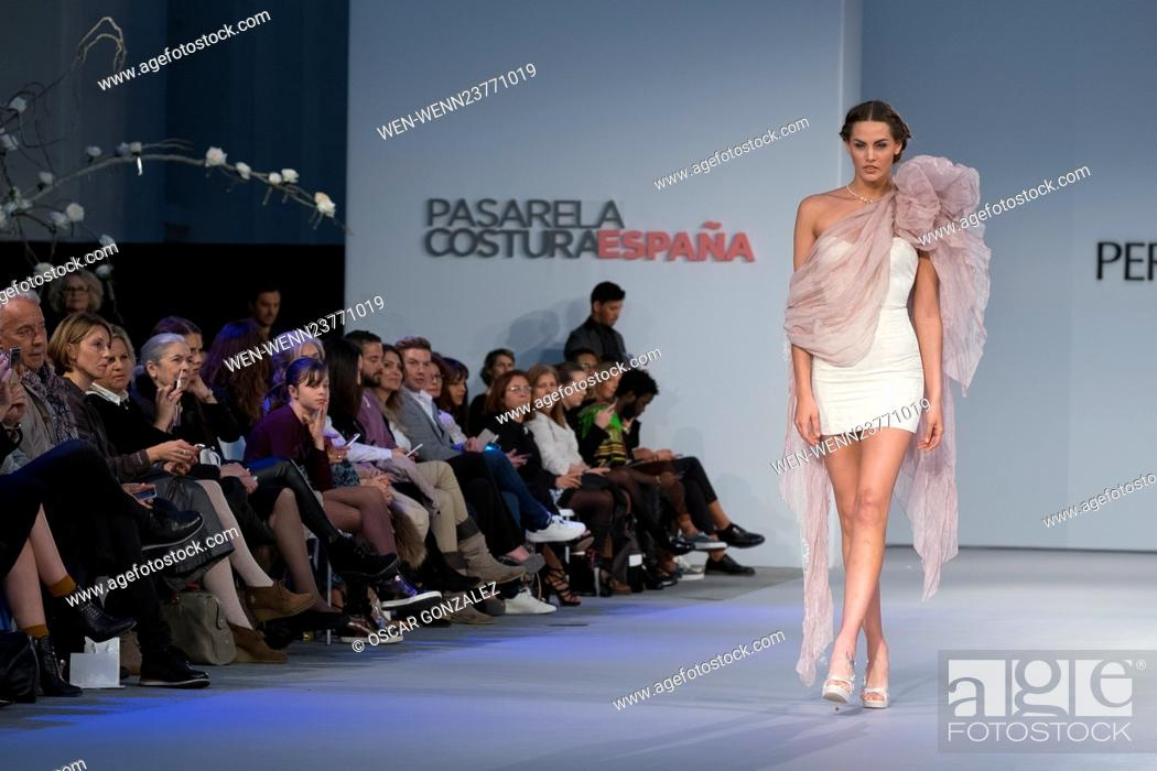 848349d09 ... fashion designer PERLOTTI for whiteday show during the Pasarela Costura  fashion show held at the Cibeles Palace on 20 April 2016 in Madrid