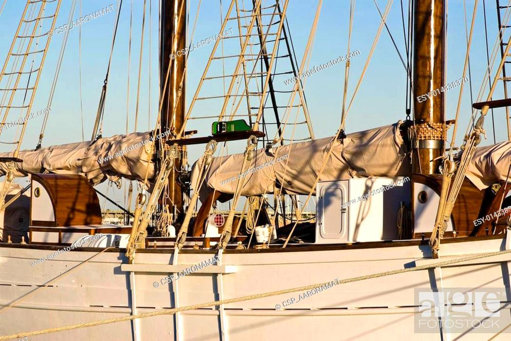 Stock Photo: old sailor boat.
