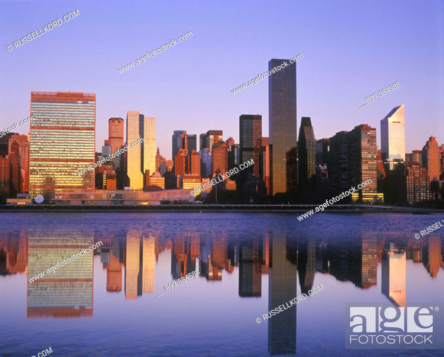 Stock Photo: Mid-town Skyline, Manhattan, New York, Usa.