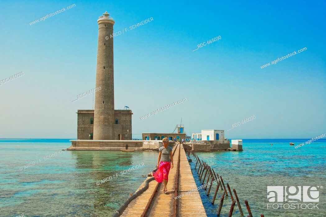 Stock Photo: Jetty of Sanganeb lighthouse reef, Sudan, Africa, Red Sea.