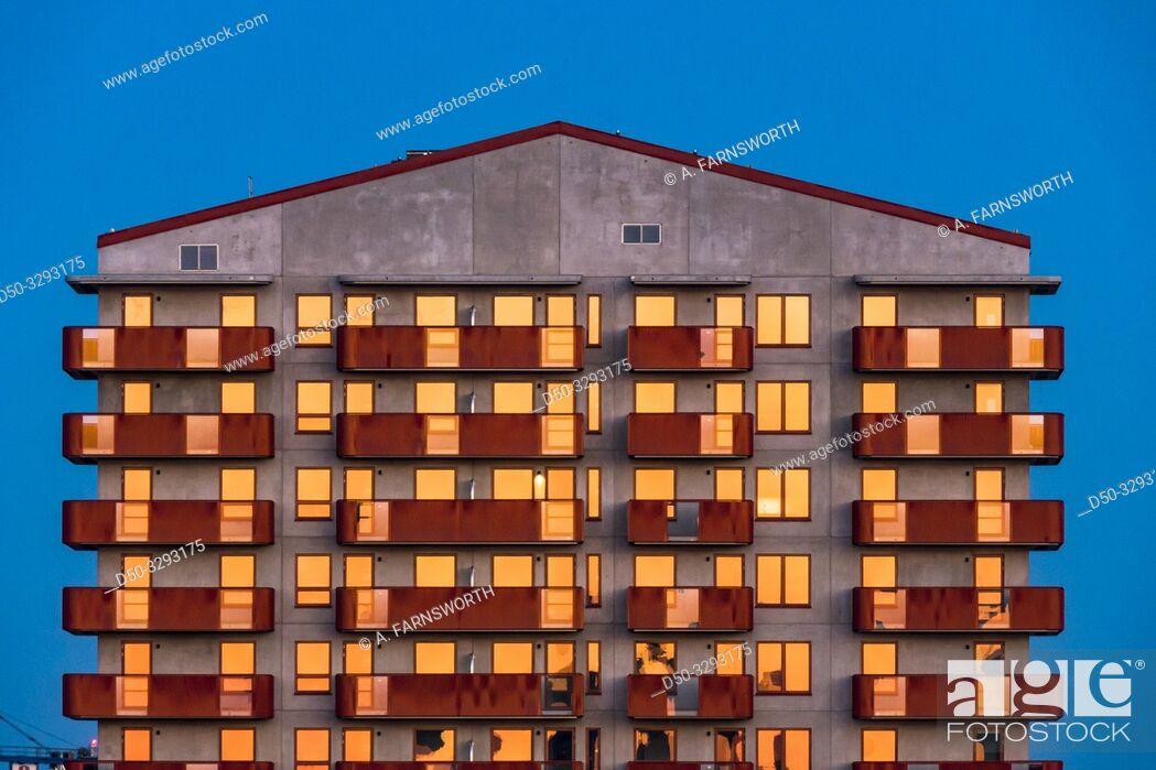Photo de stock: Stockholm, Sweden The Arstahusen complex in the suburb of Arsta.