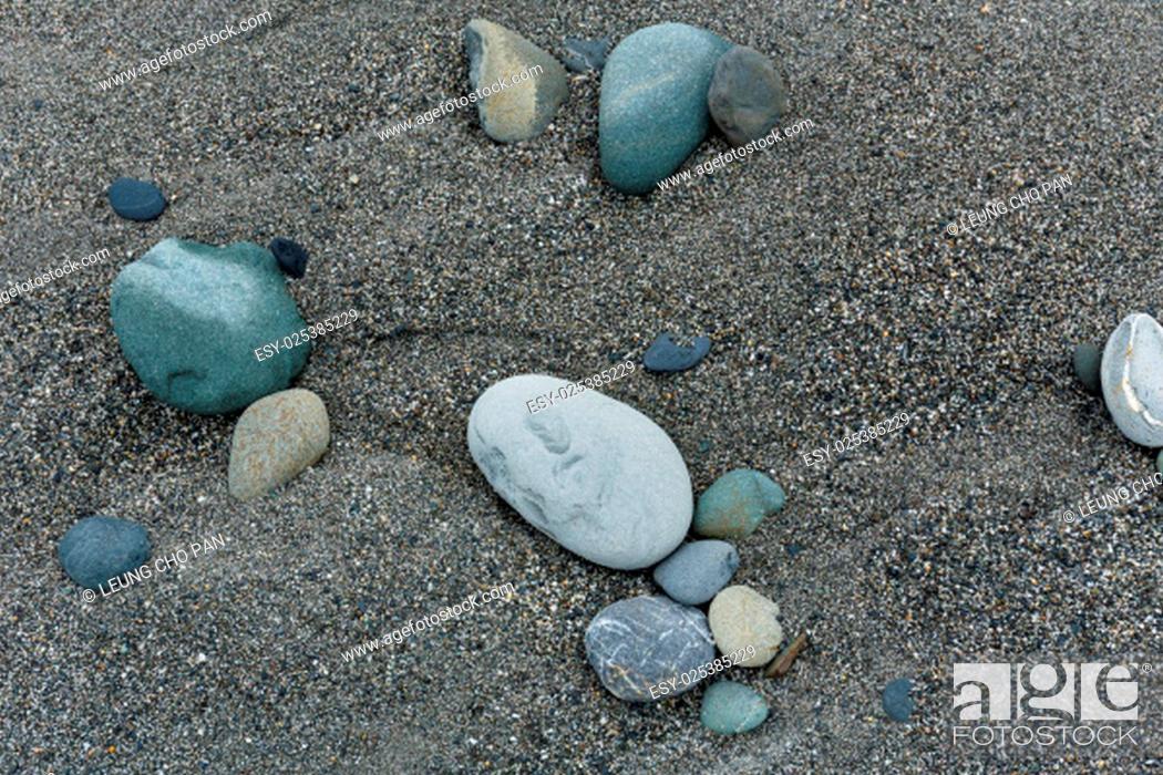 Stock Photo: Sea pebbles.