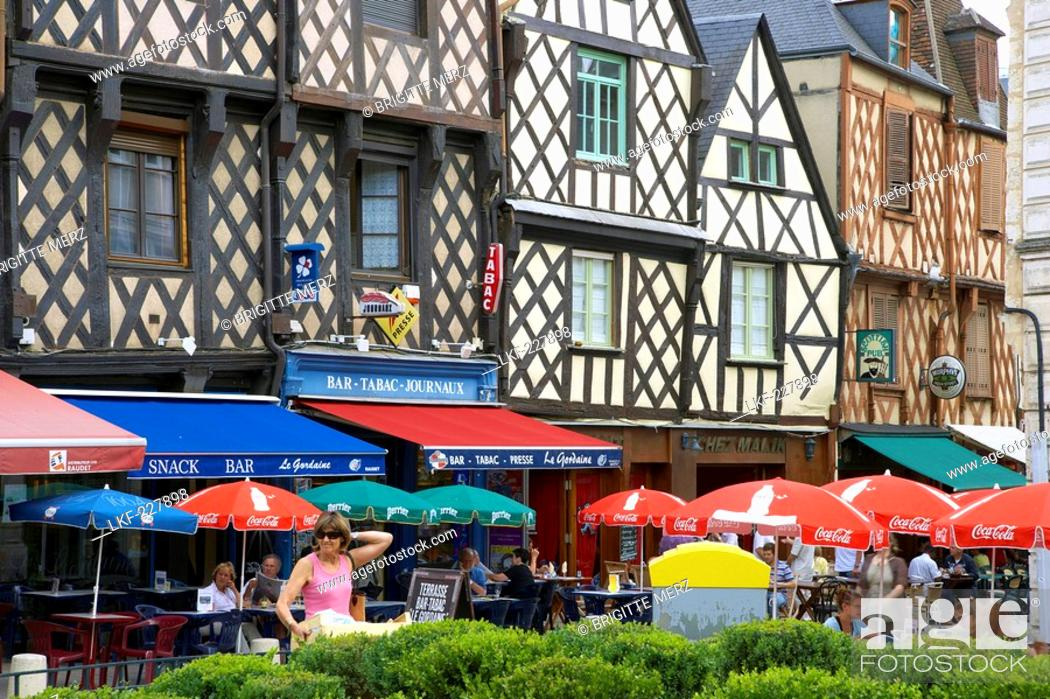 old city of bourges with place gordaine the way of st james chemins de saint jacques stock photo picture and rights managed image pic lkf 227898 agefotostock 2