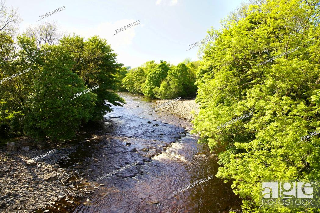 Stock Photo: River Tees. Middleton-in-Teesdale, County Durham, England, United Kingdom, Europe.