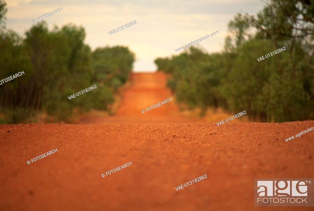 Stock Photo: The Road Of Red Clay.