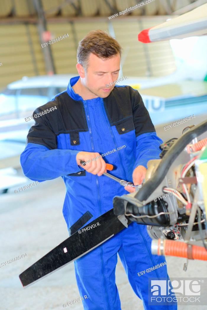 Stock Photo: aerospace engineer.
