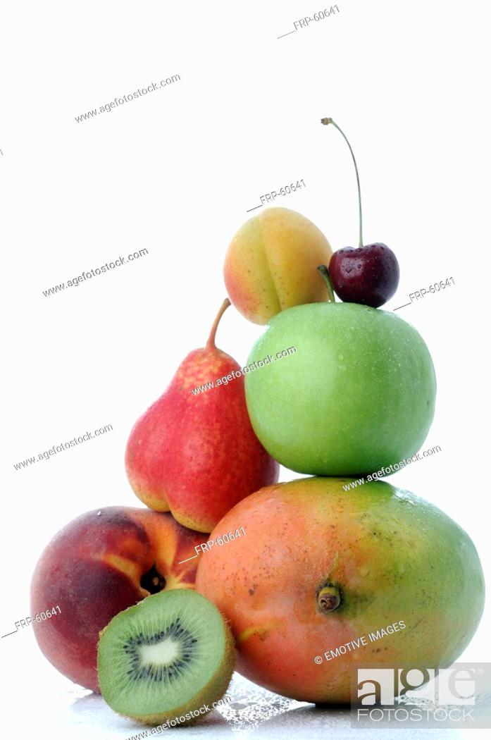 Stock Photo: Variety of fruit.