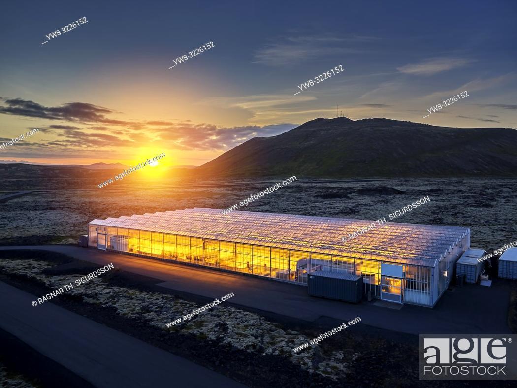 Imagen: Greenhouse, Reykjanes Peninsula, Iceland.