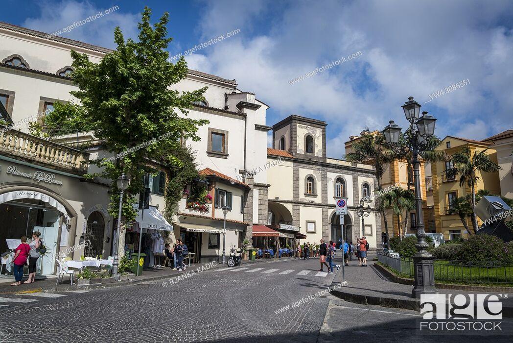 Stock Photo: Piazza San Antonino, Sorrento, Italy.