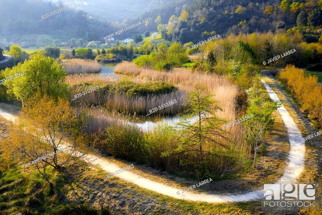 Stock Photo: Deva River, Deva, Gipuzkoa, Basque Country, Spain.