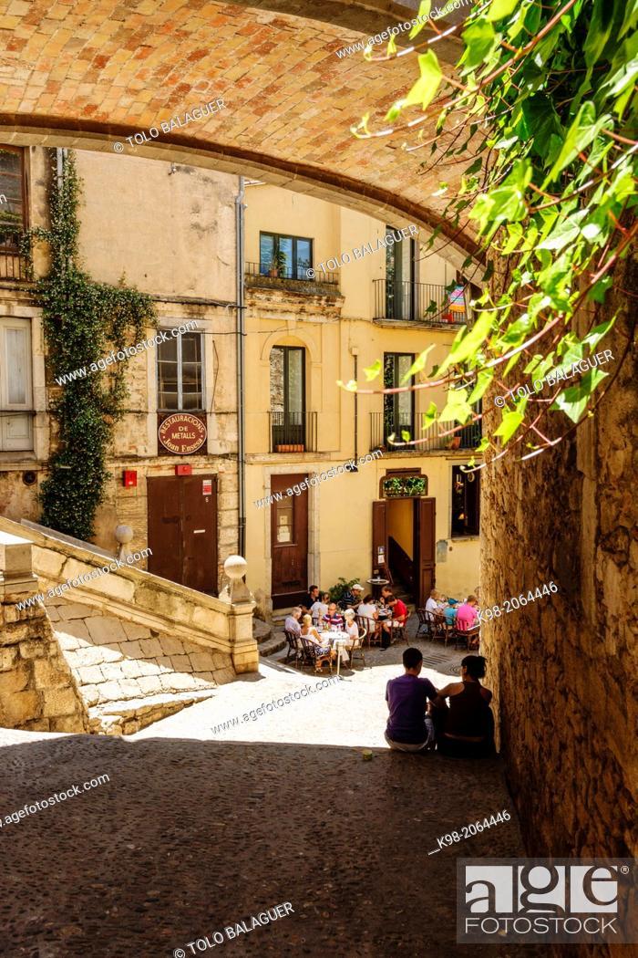 Stock Photo: Call (Jewish Quarter), Girona, Catalunya, Spain.